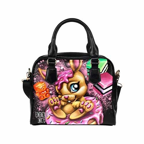 Cute Donut Bunny Rabbit Cupcake Lollies and Candy Shoulder Hand Bag