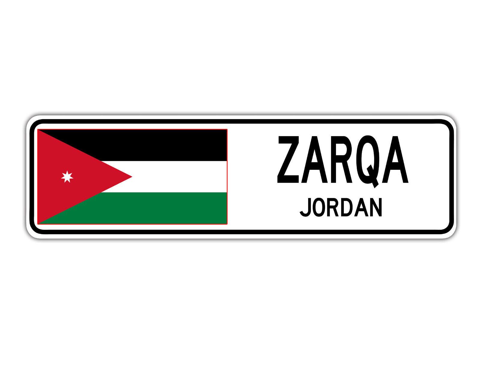 JORDAN Street Sign Jordanian flag city country road wall gift ZARQA
