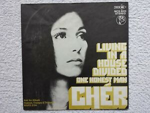 Vinyl-7-034-Cover-only-Cover-Cher-Living-In-A-House-Divided-1972-m