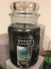 22 OZ YANKEE CANDLE HALLOWEEN BLACK MAGIC LARGE CANDLE PREMIUM PARAFFIN WAX JAR