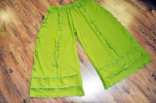 MYO-Lagenlook Jersey-Marlene Pantaloni Cuciture LEMBI PISTACCHIO 46,48,50,52,xxxl