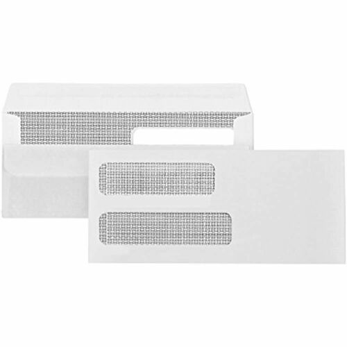 10 Flip And Seal Double Window Security Envelopes 500 No Perfect Size For 4 X
