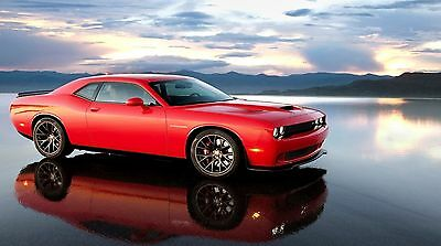 "Red Dodge Challenger SRT 42/"" x 24/"" LARGE WALL POSTER PRINT NEW"