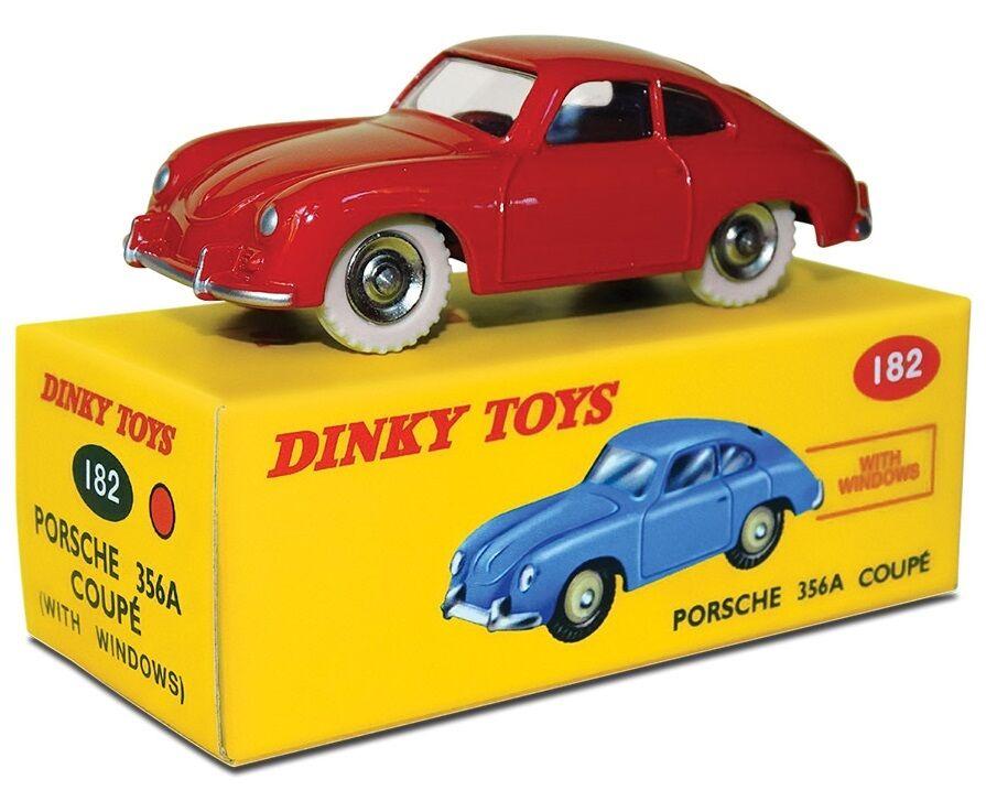 Disponibile DINKY TOYS ATLAS PORSCHE 356 UN ROSSO ACCESO 1 43 rif. 182 IN BOX