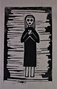Marlene REIDEL (1923-2014) Landshut - Handdruck MÄDCHEN - Büttenpapier