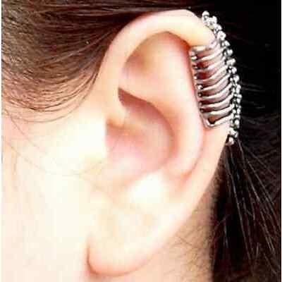 WOMEN FASHION SKULL VERTEBRATE ALLOY CLIP EARRING EAR CUFF JEWELLRY GIFT ACCESRY