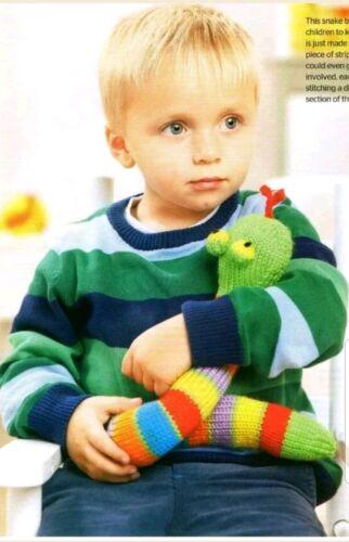 snake toy knitting pattern