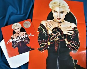 MADONNA-YOU-CAN-DANCE-12-039-039-VINYL-LP-ITALY-PRESS-w-PROMO-POSTER-amp-HYPE-STICKER