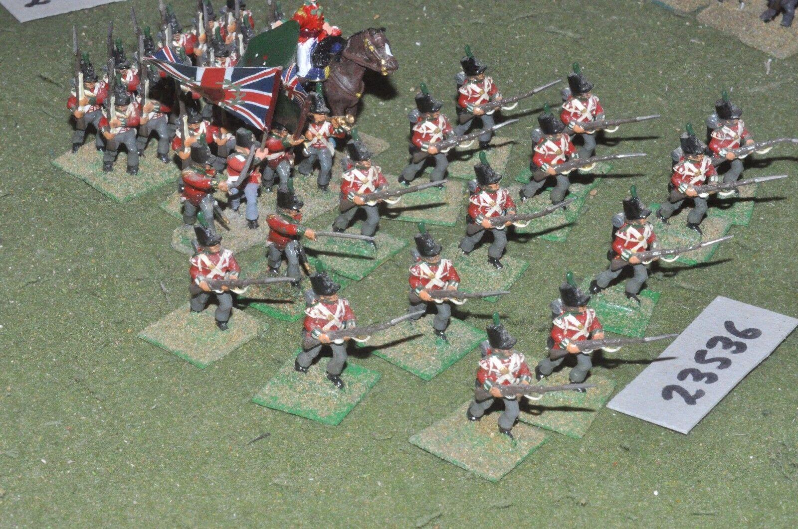25mm napoleonic   british - line 34 figures - inf (23536)