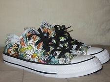Converse Women's All Star White Grey Flower Print Size 6 NEW $55