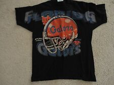 Vintage 90s FLORIDA GATORS T-shirt Mens XL NCAA College Football Helmet Big Hats