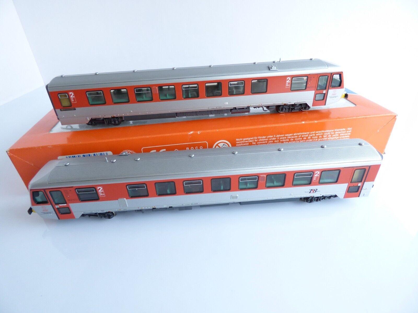 Roco 43072 railcar vt 71 an and its trailer vt 71 b