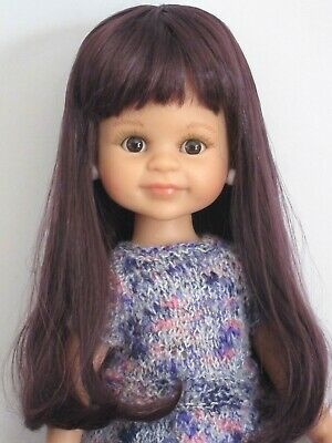 "Dolls Qualified Perruque Violet Poupée Moderne Paola Reina-t20/22cm-doll Wig Sz 8/8.5"" Purple Yet Not Vulgar"