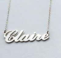 Personalised Carrie Style Name Necklace,925 Sterling Silver,Choose any name