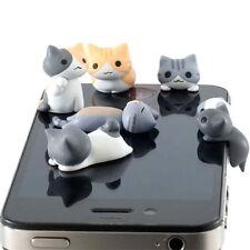 1pc Lovely Cat 3.5mm Anti Dust Earphone Jack Plug Stopper Cap For Mobile Phone
