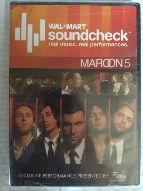 Maroon 5 WalMart Soundcheck Limited Edition Release, 2007, DVD, New Adam Levine