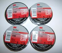 4 Rolls 3m Temflex Black Vinyl Electrical Tape 3/4 X 60 Ft. Car Audio Alarm Gps