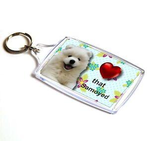 Samoyed-Keyring-Dog-Key-Ring-Samoyed-Dog-Gift-Xmas-Gift-Stocking-Filler