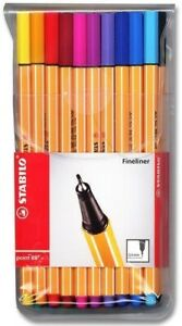 Stabilo-Point-88-0-4mm-Fineliner-Drawing-Art-Colour-Stationery-Pack-of-20-Pens