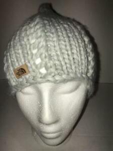 764b94586341d The North Face Womens Chunky Knit Beanie OS NWT Lunar Ice Grey