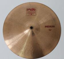 "Cymbale Paiste 2002 Medium Crash 13"" Vintage 90's Made in Switzerland"