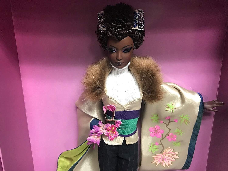 Ayako Jones JAPAN Barbie Doll Byron Lars Passport Sammlung Gold LABEL SHIPPER