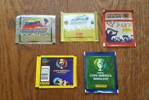 Panini-5-Tueten-Copa-America-2007-2011-2015-2016-2019-Bustina-Pack-Sobres-Packet