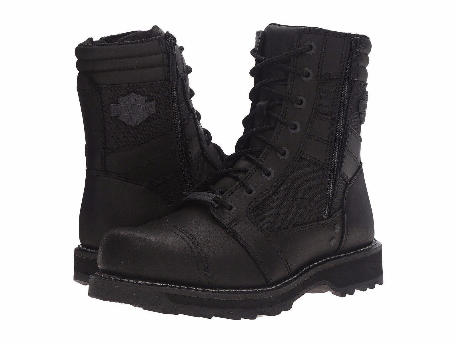 169 NEW NIB Harley Davidson Boxbury Mens Black Leather Motorcycle Boots D93770