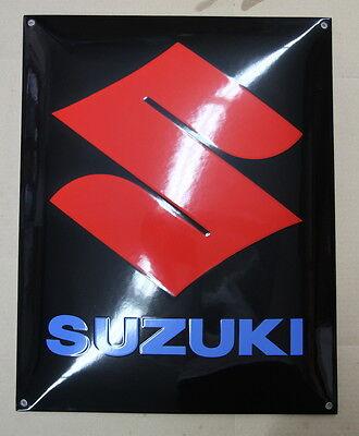 Plaque Emaillée Suzuki 40x50 cm.