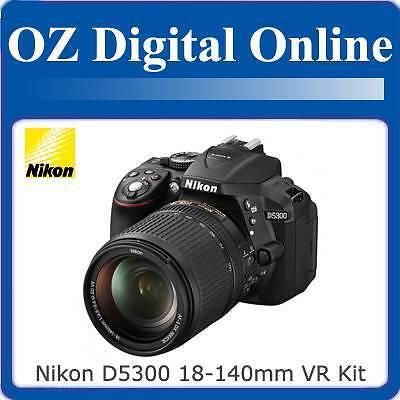 New NIKON D5300 18-140mm VR Kit +32GB+Gift Full HD 24MP DSLR 1 Year Au Wty