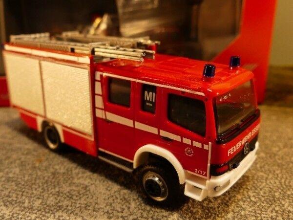 1 87 Herpa MB Atego HLF pompiers volontaires manger au milieu de 093750
