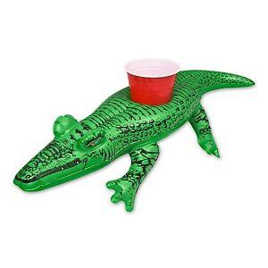 Charmant Image Is Loading GoFloats Inflatable Alligator Drink Holder 3 Pack Float