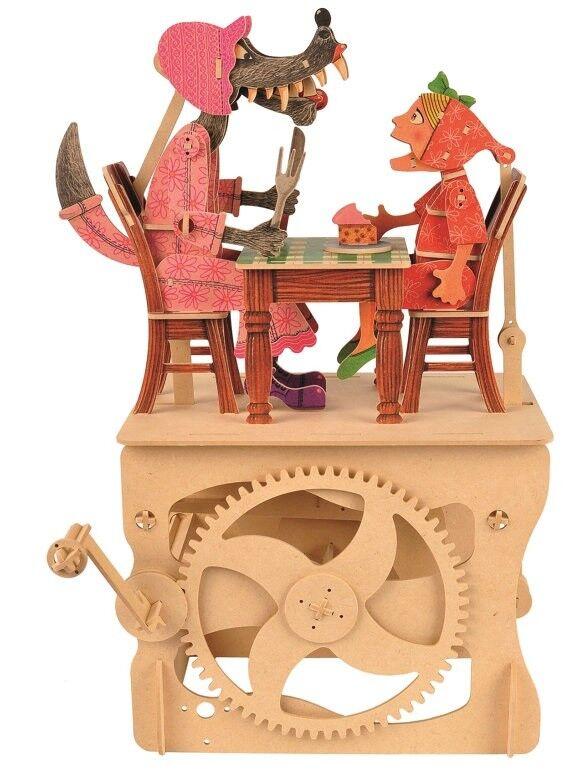 Automatakits. Rotkäppchen Hand Betrieben Automata Set - Bunt  | Das hochwertigste Material
