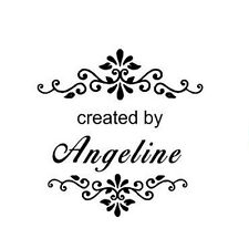 New Round Self Inking Rubber Stamp With Created By Can Customize With Your Name