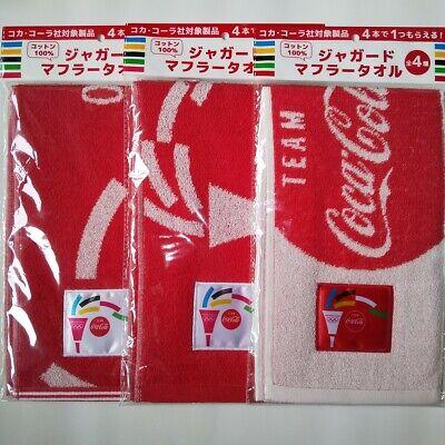 COCA COLA TOKYO 2020 OLYMPICS JACQUARD MUFFELR TOWEL *BRAND NEW