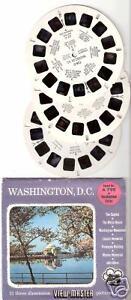 SAWYER'S View Master WASHINGTON DC packet A 790 vintage USA Capitol 3 reels set