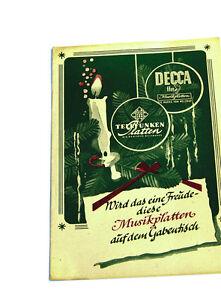 k92 Ehrlichkeit Decca Telefunken Plattenkatalog Musik