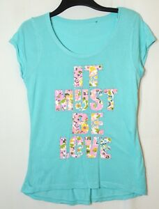 BLUE-LADIES-CASUAL-TOP-BLOUSE-STRETCH-SIZE-12-14-GEORGE-FLORAL-JERSEY