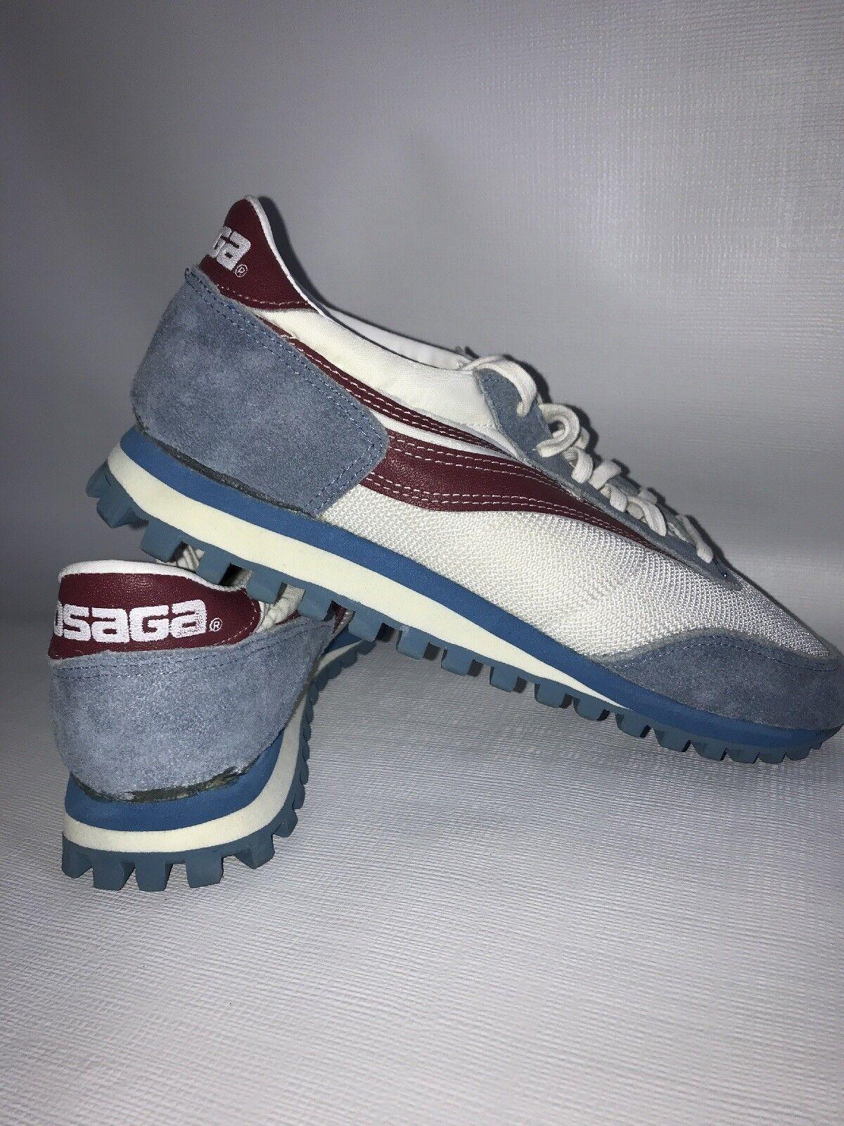 Osaga KT-26 Vintage Zapatillas años 70 Dunlop blancoo Azul Menta usado en excelente estado para hombre 9