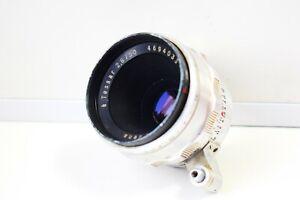 RARE Silver Carl Zeiss Jena TESSAR Germany lens 50mm f/2.8 EXAKTA mount EXC