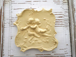 Architectural antique cherubs furniture applique wood resin new