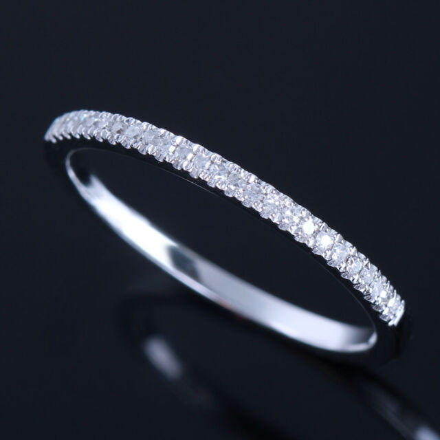 Diamonds Wedding Band Classic Solid 10k White Gold Engagement Anniversary Ring