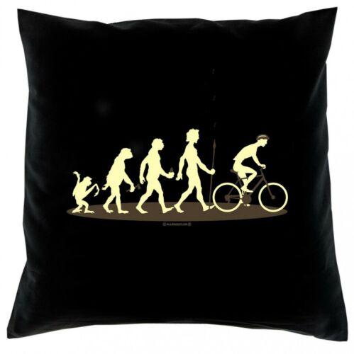 Taie d/'oreiller-Evolution-vélo-taie d/'oreiller 40x40 amusant sort