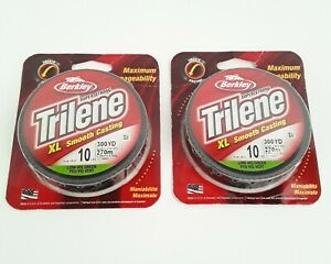 Lot of 2 BERKLEY TRILENE XL SMOOTH CASTING FISHING LINE 10LB - 300YD