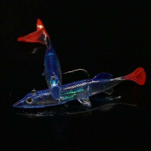 Minnow Night Plastic Fishing Lure Crank Bait Hooks Bass Fish Crankbait Tackle YK