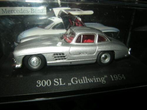 1:43 Ixo mercedes-benz 300 sl Gullwing 1954 plata//Silver VP