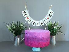 We Still Do Wedding Cake Topper Mini Bunting Banner Topping Shabby Chic Vintage