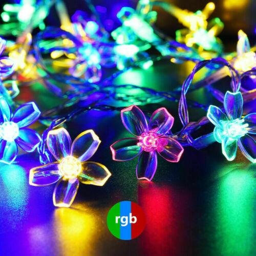 7M 50LED Solar String Fairy Lights Flower Garden Waterproof Wedding Party Decor