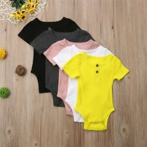 127840177914 Newborn Infant Kids Baby Boy Girl Romper Bodysuit Jumpsuit Clothes ...