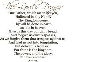 lord s prayer our father who art in heaven very large vinyl wall